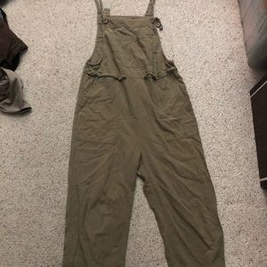 Zanzea olive green cotton overalls